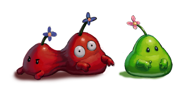 Some little blob guys. Adorable.